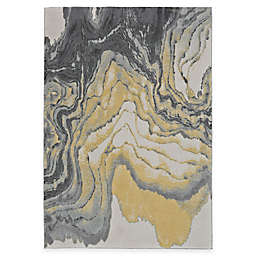 Feizy Farrell Agate Rug in Grey/Yellow