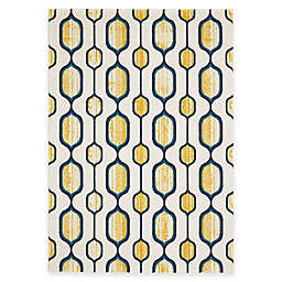 Feizy Caslon Mod Link Area Rug in Yellow