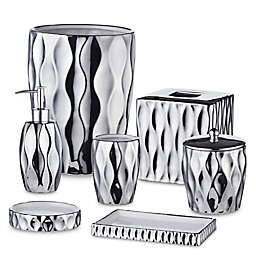Rosalli Trading Silver Wave Bath Accessory Collection in Silver