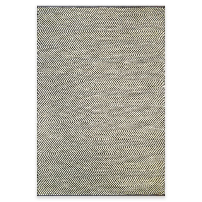 Alternate image 1 for Natural Herringbone Area Rug in Grey
