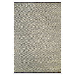 Natural Herringbone Area Rug in Grey