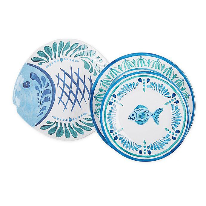 Alternate image 1 for Fish Medallion Melamine Dinnerware Collection