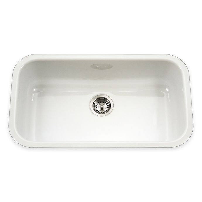 Alternate image 1 for Houzer Porcela Large Undermount Single Bowl Sink in White