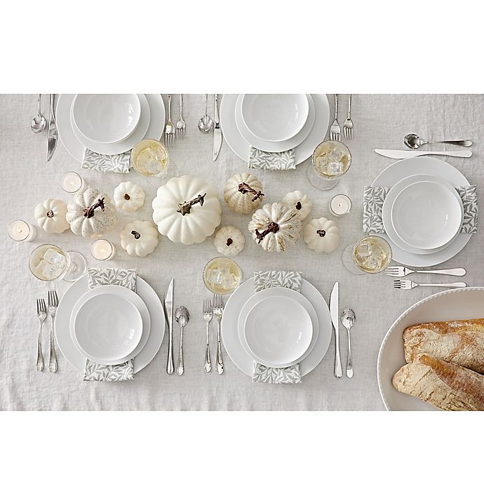 Alternate image 1 for Crisp White Fall Table Collection
