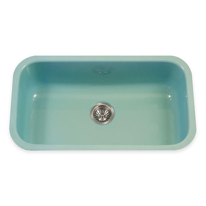 Alternate image 1 for Houzer Porcela Large Undermount Single Bowl Sink in Mint