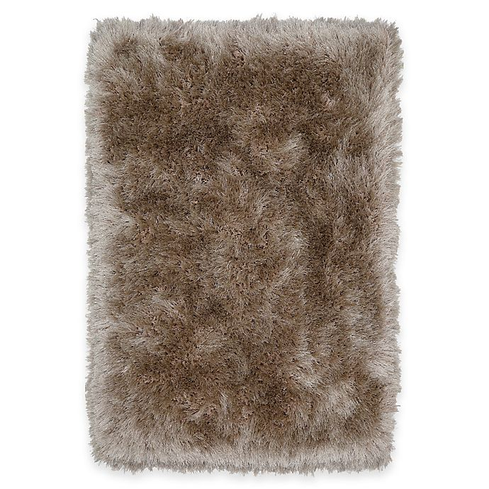 Alternate image 1 for Mohawk Home® Juliet Metallic 2-Foot 6-Inch x 3-Foot 10-Inch Shag Accent Rug in Taupe