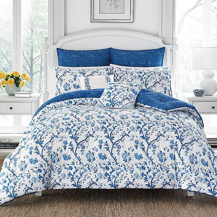 Alternate image 1 for Laura Ashley® Elise 7-Piece Reversible Comforter Set