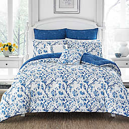 Laura Ashley® Elise 7-Piece Reversible Comforter Set