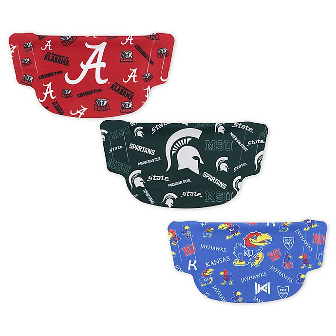 Alternate image 1 for Collegiate Dot Face Mask Collection