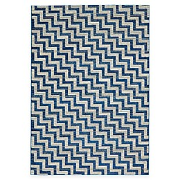 Feizy Caslon Stairs Rug in Blue