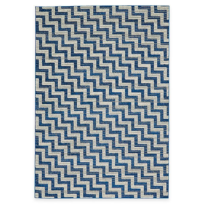 Alternate image 1 for Feizy Caslon Stairs Rug in Blue
