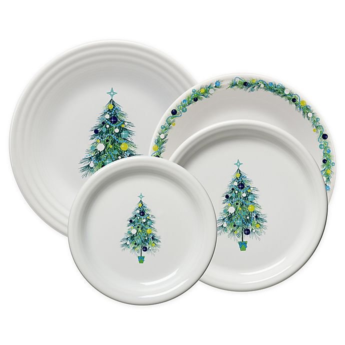 Alternate image 1 for Fiesta® Blue Christmas Tree Dinnerware Collection
