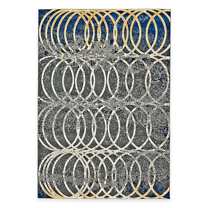 Alternate image 1 for Feizy Caslon Settat Circle Lock 5-Foot x 8-Foot Area Rug in Grey