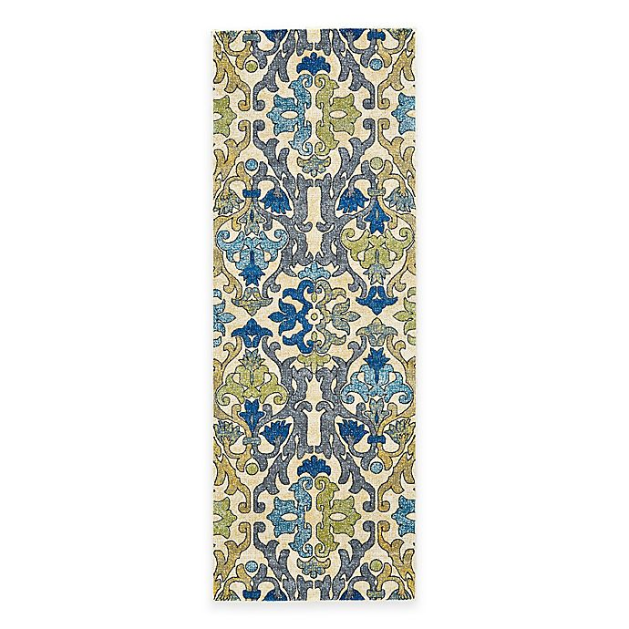 Alternate image 1 for Feizy Caslon Damask 3-Foot x 8-Foot Multicolor Rug