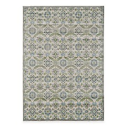 Feizy Landri Floral Medallion Rug in Taupe