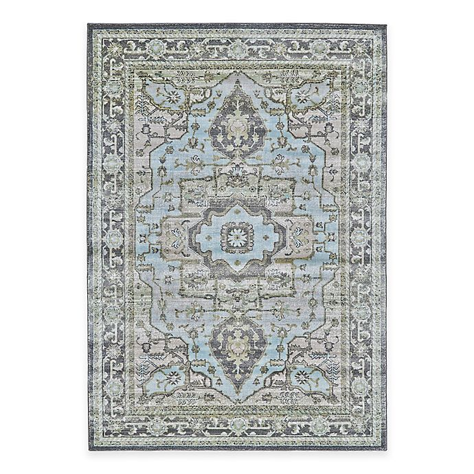 Alternate image 1 for Feizy Landri Center Medallion 5-Foot x 8-Foot Area Rug in Taupe/Blue
