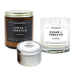 Calyan Wax Co. Cedar + Tobacco Soy Candle Collection