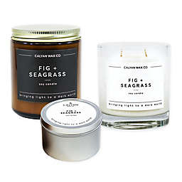 Calyan Wax Co. Fig + Seagrass Soy Candle Collection