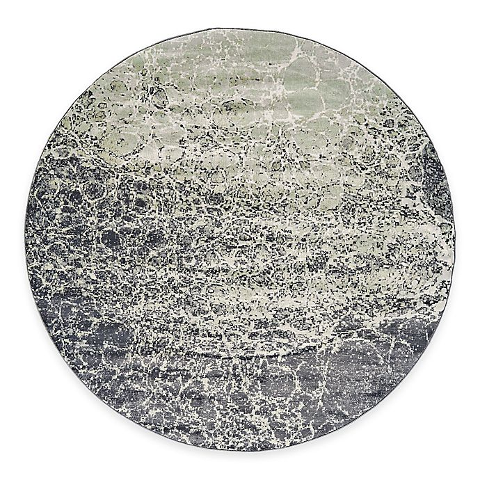 Alternate image 1 for Feizy Landri Cracks 8-Foot Round Area Rug in Taupe/Grey