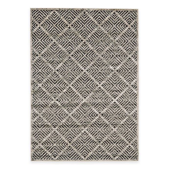 Alternate image 1 for Feizy Landri Diamonds 5-Foot x 8-Foot Area Rug in Taupe/Grey