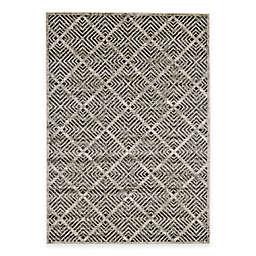 Feizy Landri Diamonds Rug in Taupe/Grey