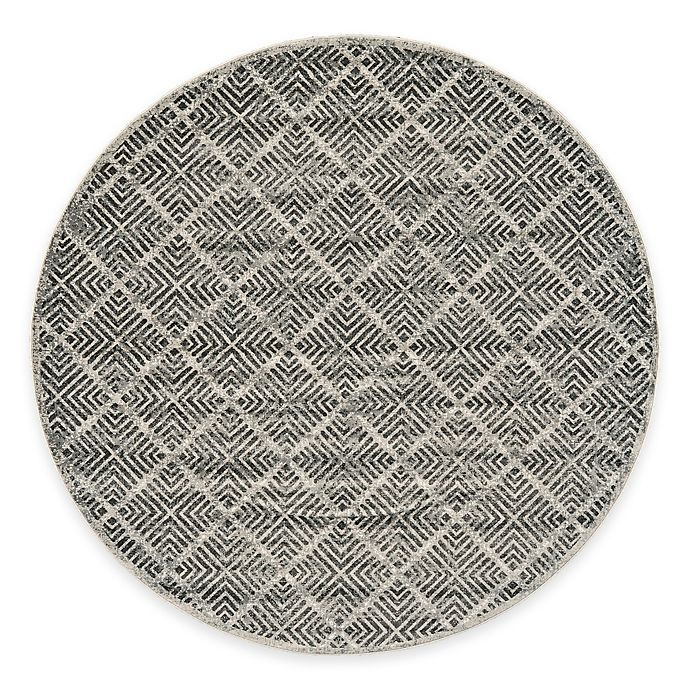 Alternate image 1 for Feizy Landri Diamonds 8-Foot Round Area Rug in Taupe/Grey