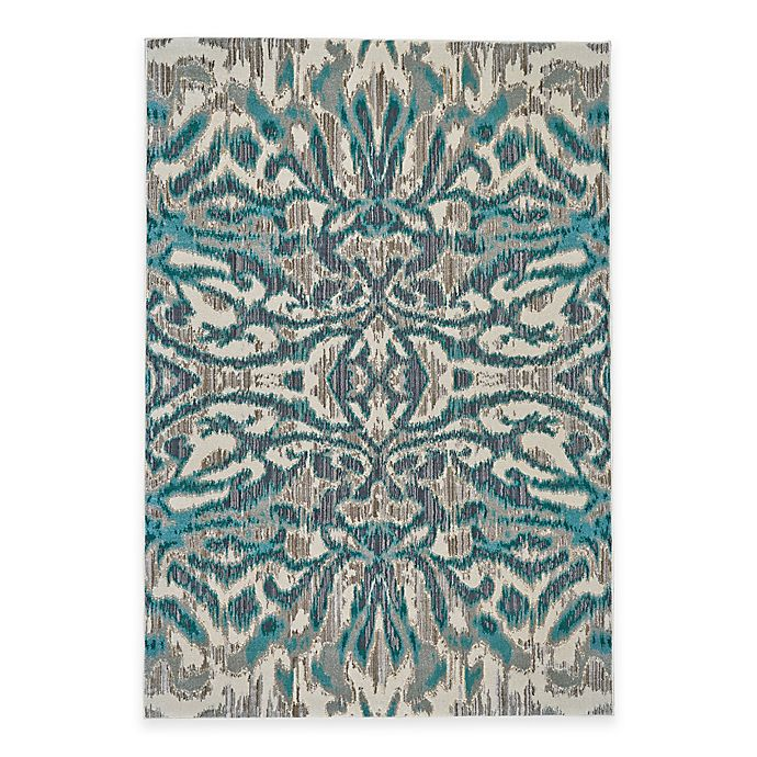 Alternate image 1 for Feizy Keaton Ikat 2-Foot 2-Inch x 4-Foot Accent Rug in Turquoise