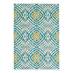 Feizy Keaton Circles Rug in Teal