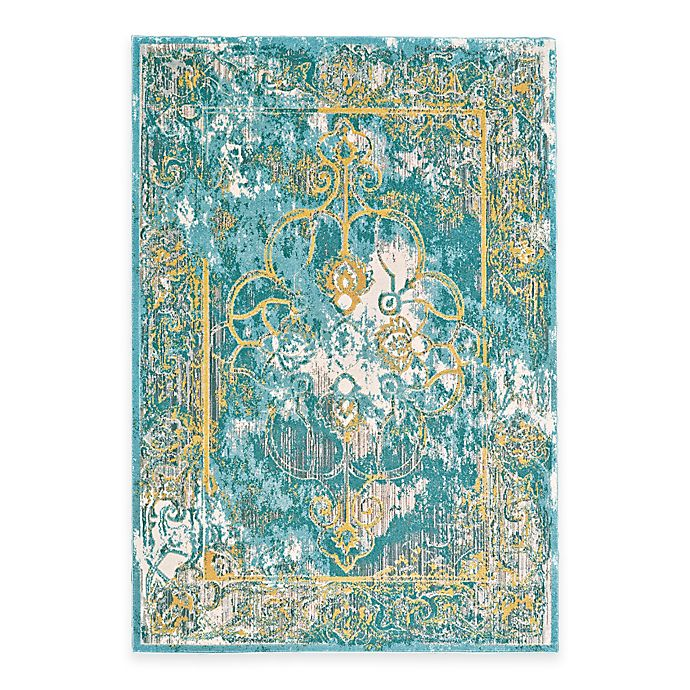 Alternate image 1 for Feizy Keaton Border Rug in Teal