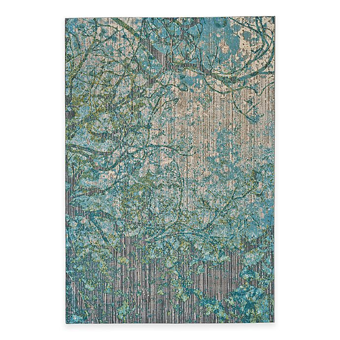 Alternate image 1 for Feizy Keaton Branch 5-Foot 3-Inch x 7-Foot 6-Inch Rug in Blue/Grey