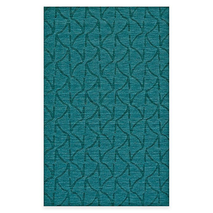 Feizy Crescent Wavy Rug In Teal
