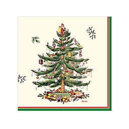 Spode Christmas Tree 20-Count Paper Beverage Napkins in Green