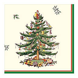 Spode Christmas Tree 20-Count Paper Lunch Napkins in Green