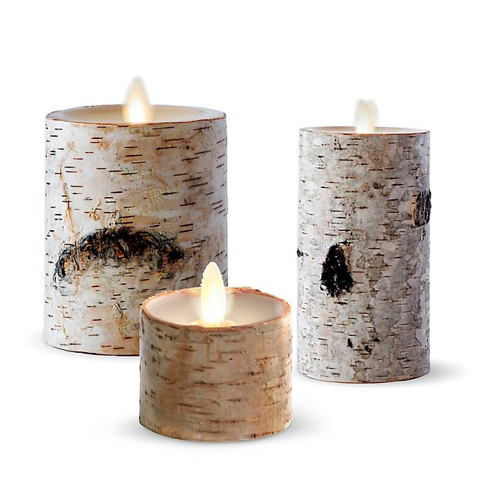 Alternate image 1 for Luminara® Birch Real-Flame Effect Candle Collection