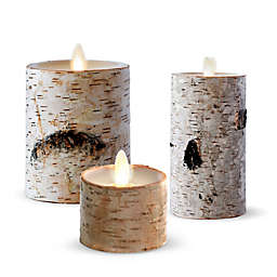 Luminara® Birch Real-Flame Effect Tealight Candle in Ivory (Set of 2)