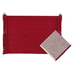 Variegated Fringe Table Linen Collection