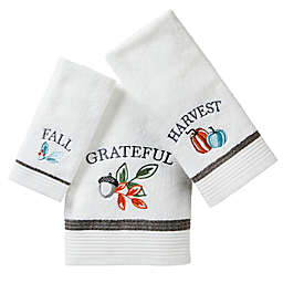 Natures Harvest Towel Collection in White