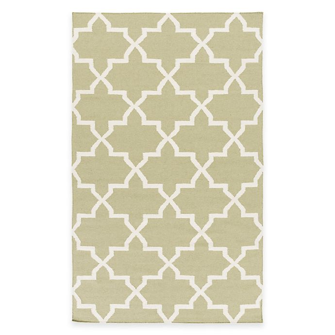 Alternate image 1 for Feizy York Reagan 3-Foot x 5-Foot Accent Rug in Sage/White