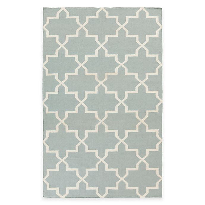 Alternate image 1 for Feizy York Reagan 5-Foot x 8-Foot Area Rug in Light Blue/White