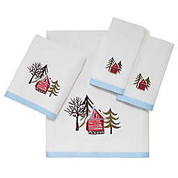 Avanti Christmas Village Bath Towel Collection in White