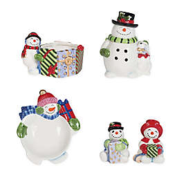 Fitz and Floyd® Holly Jolly Snowman Tableware Collection in Red/Green/White