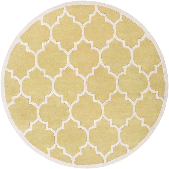 Alternate image 1 for Artistic Weavers Transit Piper 8-Foot Round Area Rug in Yellow