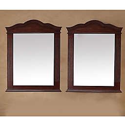 James Martin Furniture 32-Inch Florentine Mirrors in Cherry (Set of 2)