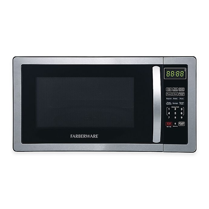 Alternate image 1 for Farberware® Classic 1.1 Cubic Foot Microwave Oven in Stainless Steel/Black