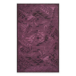 Safavieh Palazzo Southwest 4-Foot x 6-Foot Area Rug in Black/Purple