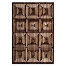 Safavieh Infinity Squares Rug in Brown/Beige