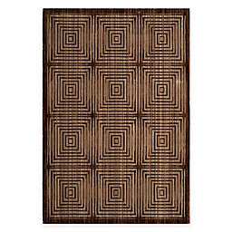 Safavieh Infinity Squares 5-Foot x 7-Foot Area Rug in Brown/Beige