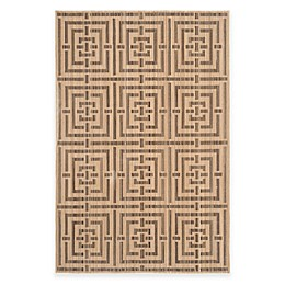 Safavieh Infinity Collection Maze Rug in Yellow/Taupe