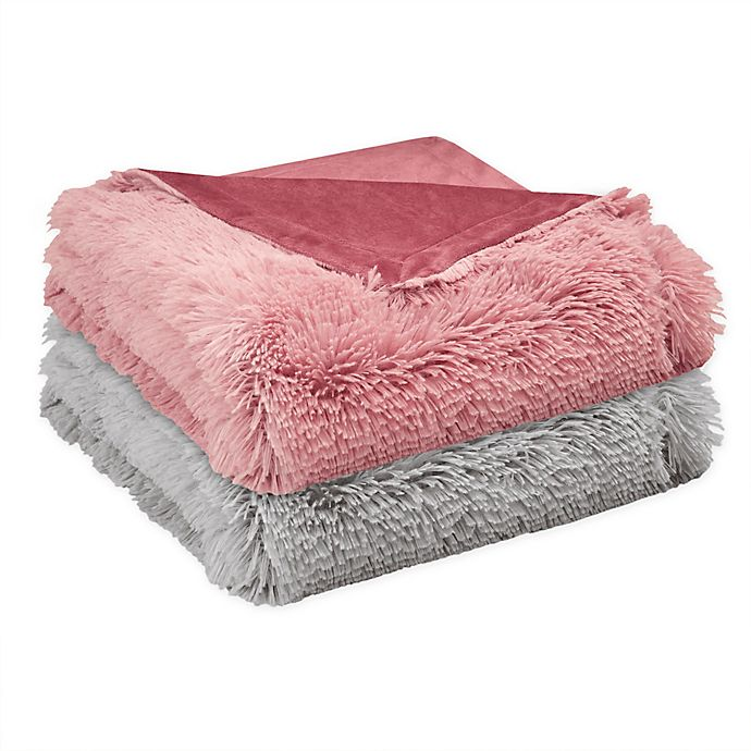 Alternate image 1 for CosmoLiving Cleo Ombre Shaggy Faux Fur Throw Blanket