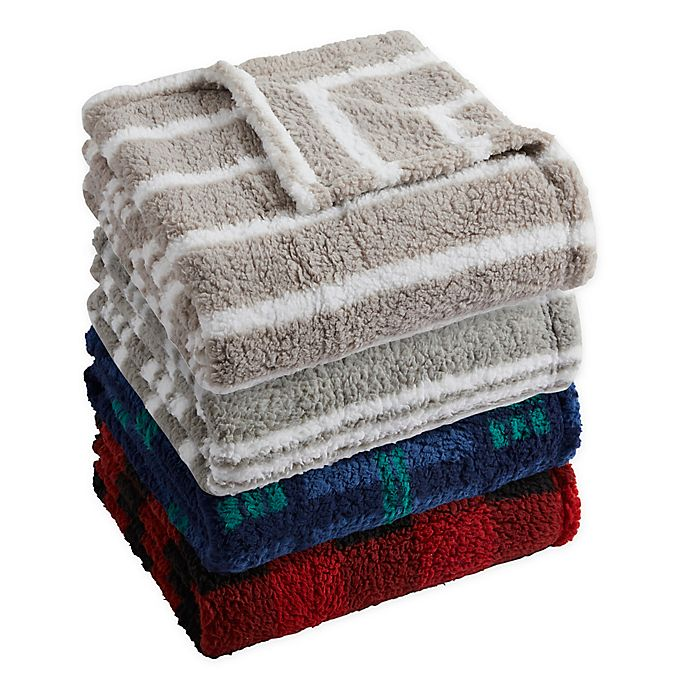 Alternate image 1 for Sherpa Throw Blanket Collection